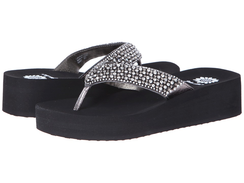 Yellow Box - Ebony (Pewter) Women's Sandals