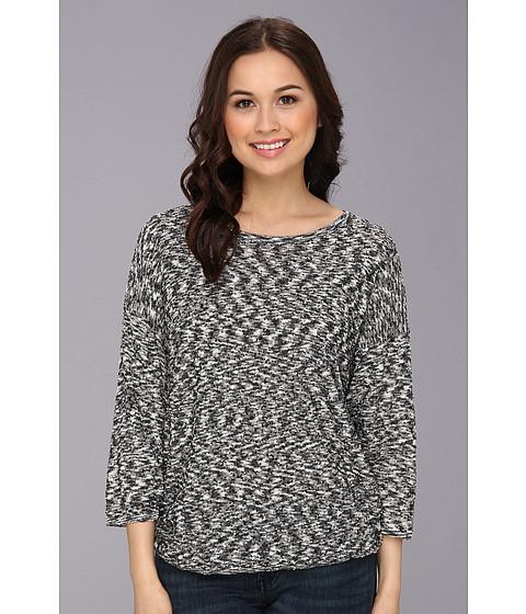 kensie - Space Dye Slub Sweater (Black Combo) Women