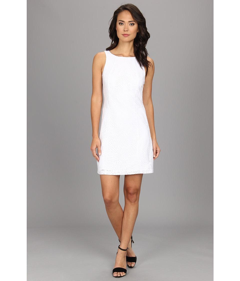 kensie - Sparkle Lace Dress (White Combo) Women