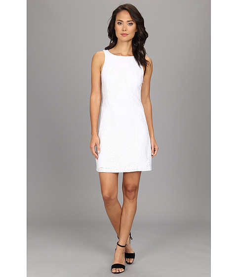 kensie - Sparkle Lace Dress (White Combo) Women's Dress