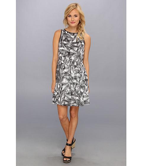 kensie - Overlapped Ferns Dress (Black Combo) Women's Dress