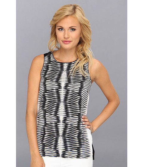 kensie - Mirror Print Top (Black Combo) Women's Sleeveless