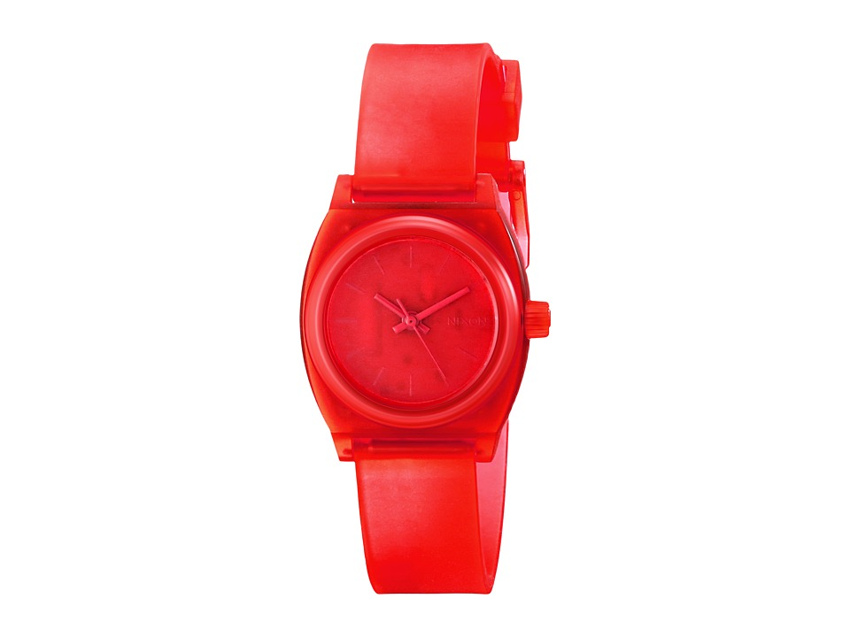 Nixon - Small Time Teller P (Translucent Coral) Analog Watches