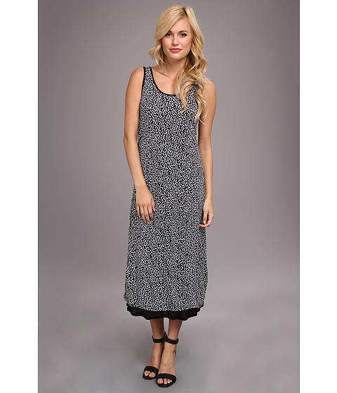 kensie - Lots Of Dots Dress (White) Women