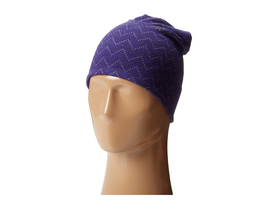 Smartwool - Mid 250 Reversible Pattern Cuffed Beanie (Imperial Purple Heather) Beanies