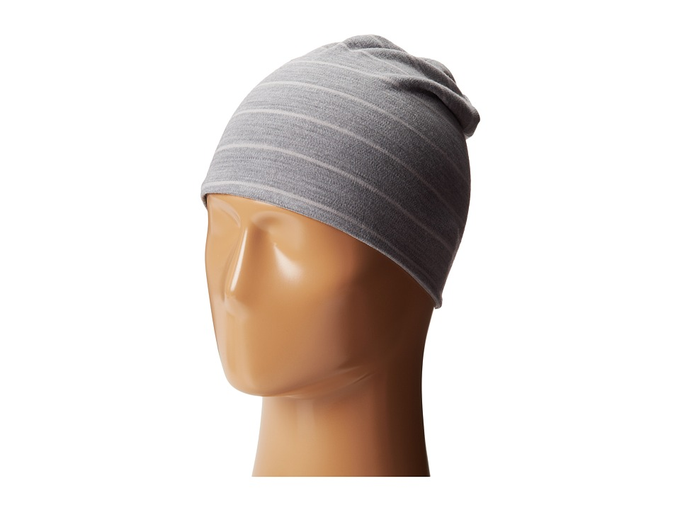Smartwool - Mid 250 Reversible Pattern Cuffed Beanie (Silver Gray Heather/Natural) Beanies