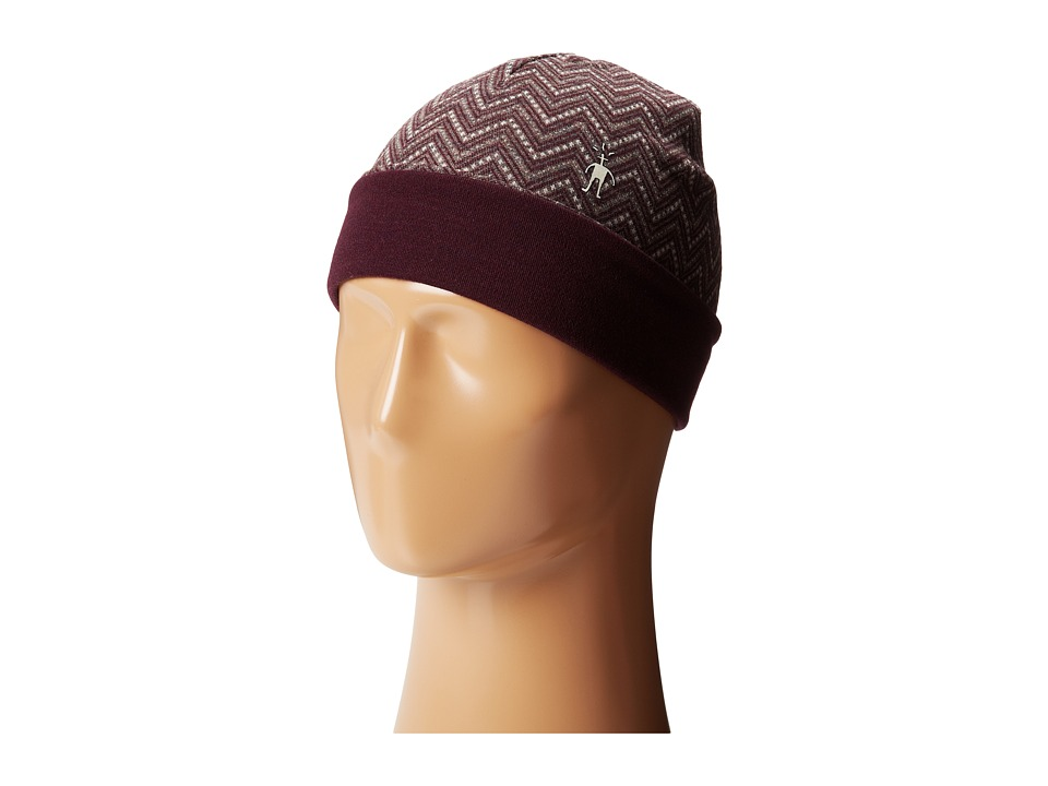 Smartwool - Mid 250 Reversible Pattern Cuffed Beanie (Taupe Heather) Beanies