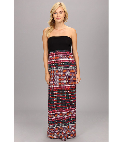 Roxy - Mercury Rising Maxi Dress (Juniors) (Plum Geo Stripe) Women's Dress
