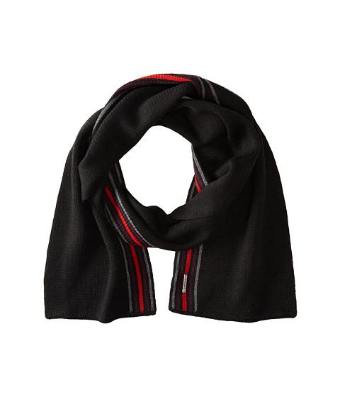 Smartwool - Asymmetrical Pinstripe Scarf (Black) Scarves
