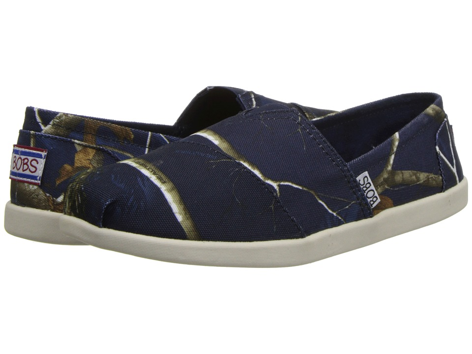 BOBS from SKECHERS - Bobs World - Hide and Seek (Navy) Women's Slip on Shoes