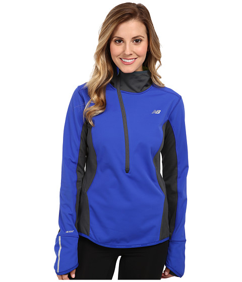 New Balance - Windblocker Half Zip (UV Blue/Orca/Hi-Lite) Women