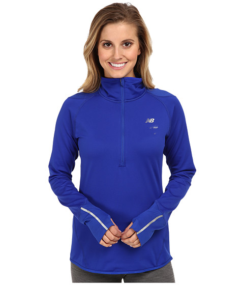 New Balance - Heat 1/2 Zip Semi-Fitted Top (UV Blue) Women's Long Sleeve Pullover