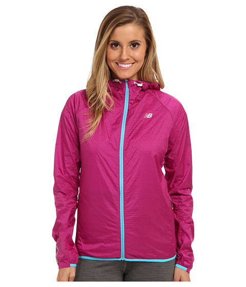 New Balance - Shadow Run Jacket (Poisonberry/Paradise) Women's Coat