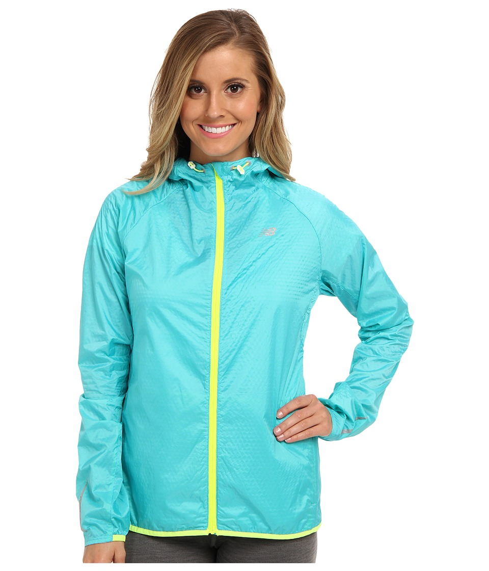 New Balance - Shadow Run Jacket (Paradise/Hi-Lite) Women's Coat