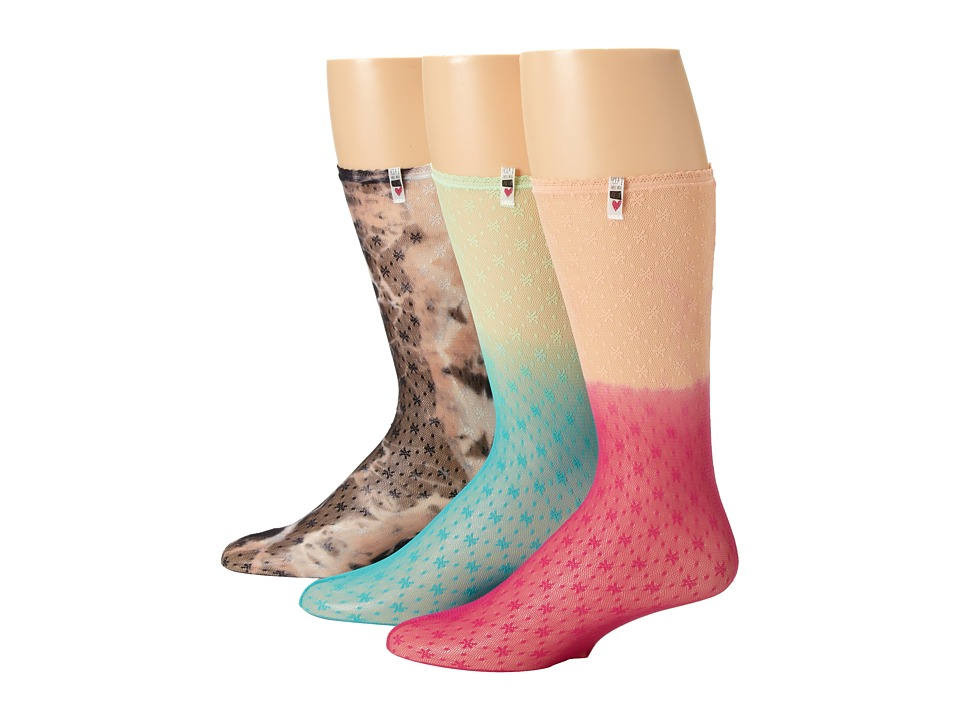 Volcom - Pretty Lace Sock 3-Pair Pack (Assorted) Women's Crew Cut Socks Shoes