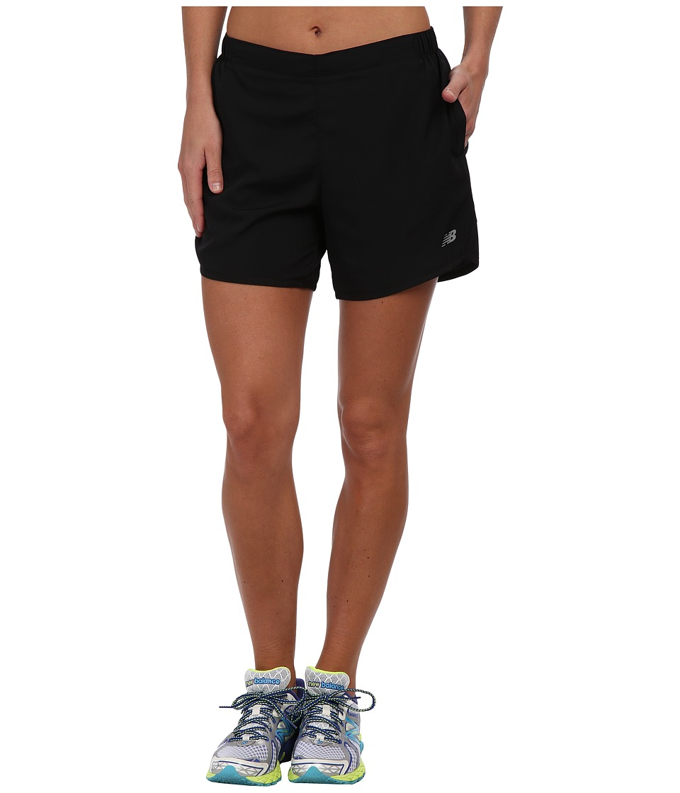 New Balance - 5 Go 2 Short (Black/Black) Women's Shorts
