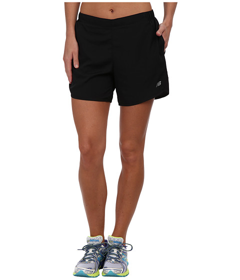 New Balance - 5 Go 2 Short (Black/Black) Women