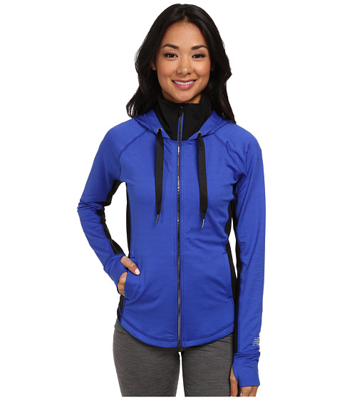 New Balance - Achieve Fitted Jacket (UV Blue/Black) Women's Coat