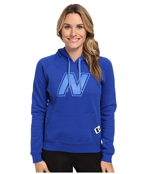 New Balance - Essentials Pullover Hoodie (UV Blue) Women's Fleece