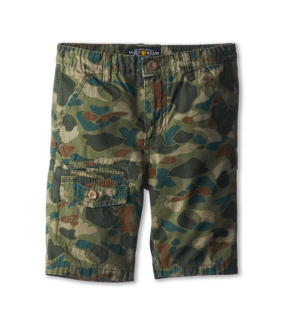 Lucky Brand Kids - Bubble Camo Short (Big Kids) (Lichen Green) Boy's Shorts