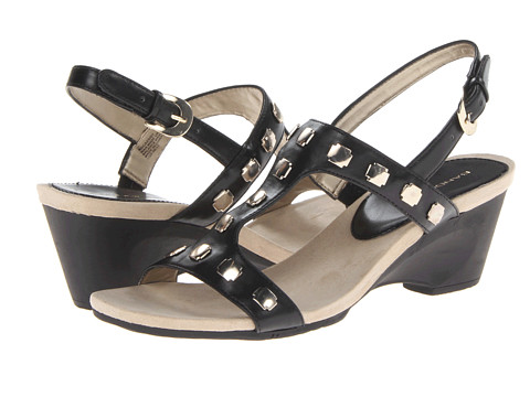 Bandolino - Cassidy (Black Synthetic) Women's Wedge Shoes