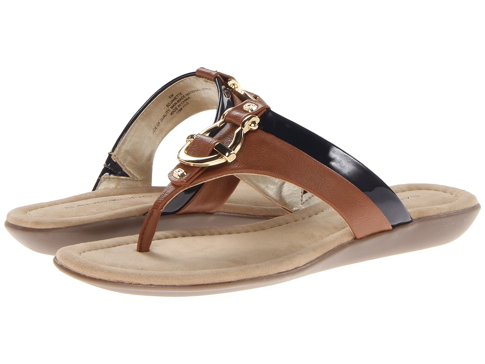 Bandolino - Janette (Navy/Tan Synthetic) Women