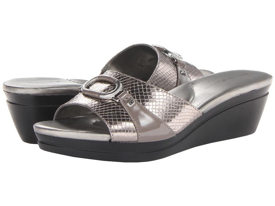 Bandolino - Yaffa 2 (Pewter Synthetic) Women's Sandals