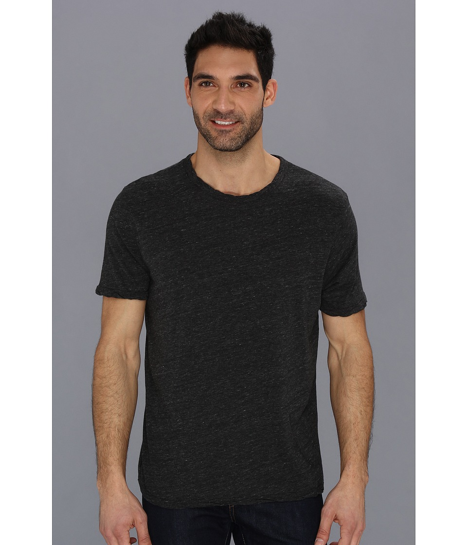 Lucky Brand Weekend Rope Crew Mens Short Sleeve Pullover (Black)