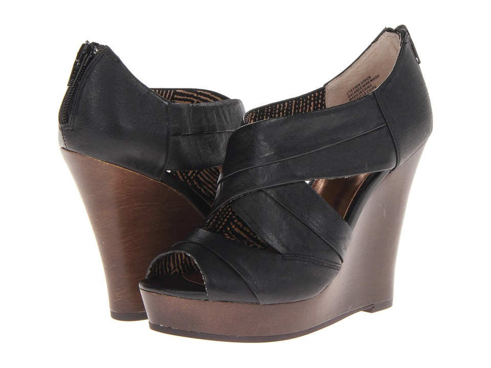 Seychelles - Risky Business (Black Wood) Women's Wedge Shoes