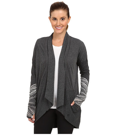 New Balance - Burnout Relaxed Wrap Top (Black) Women's Sweater