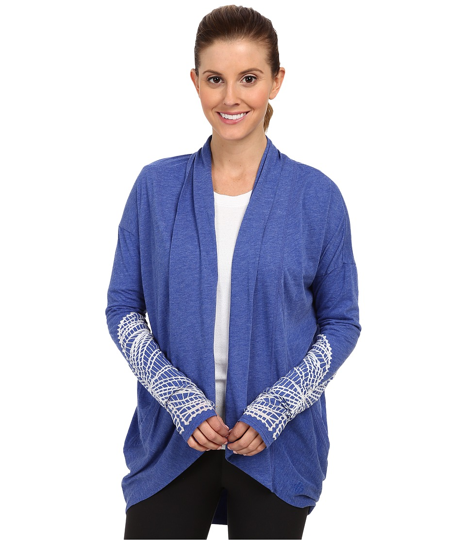 New Balance - Burnout Relaxed Wrap Top (Marine Blue) Women's Sweater