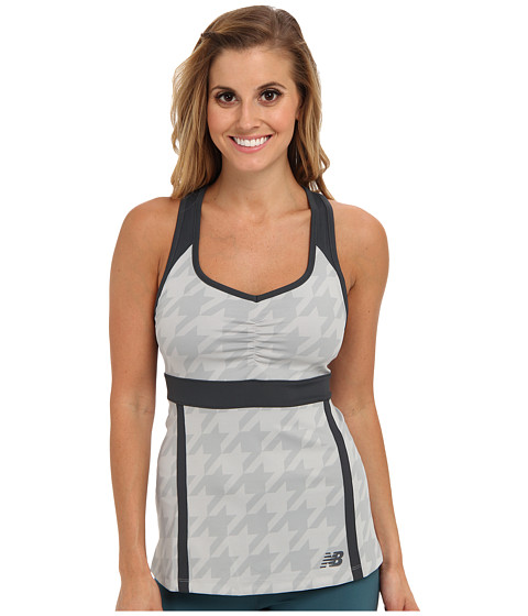 New Balance - Tournament Racerback Top (Silver Mink) Women