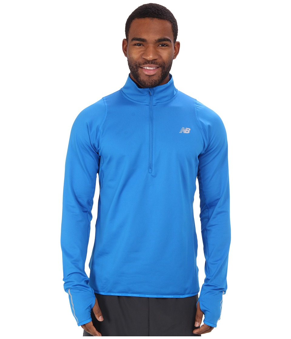 New Balance - Heat 1/2 Zip L/S Top (Laser Blue/Laser Blue) Men's Long Sleeve Pullover
