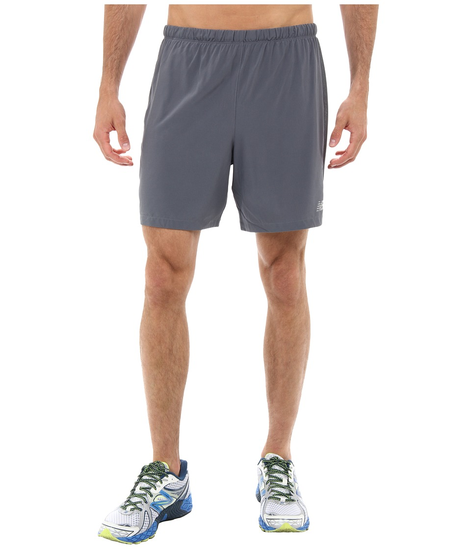 New Balance - Impact 2-In-1 Run Short (Lead/Hi-Lite) Men's Shorts