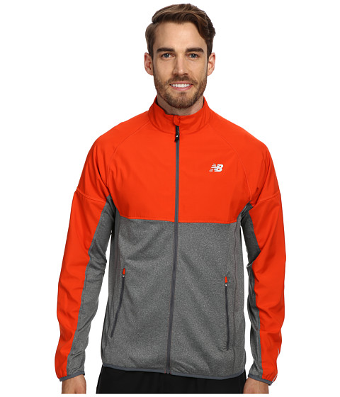New Balance - Raptor Semi-Fitted Jacket (Fireball/Lead) Men's Coat