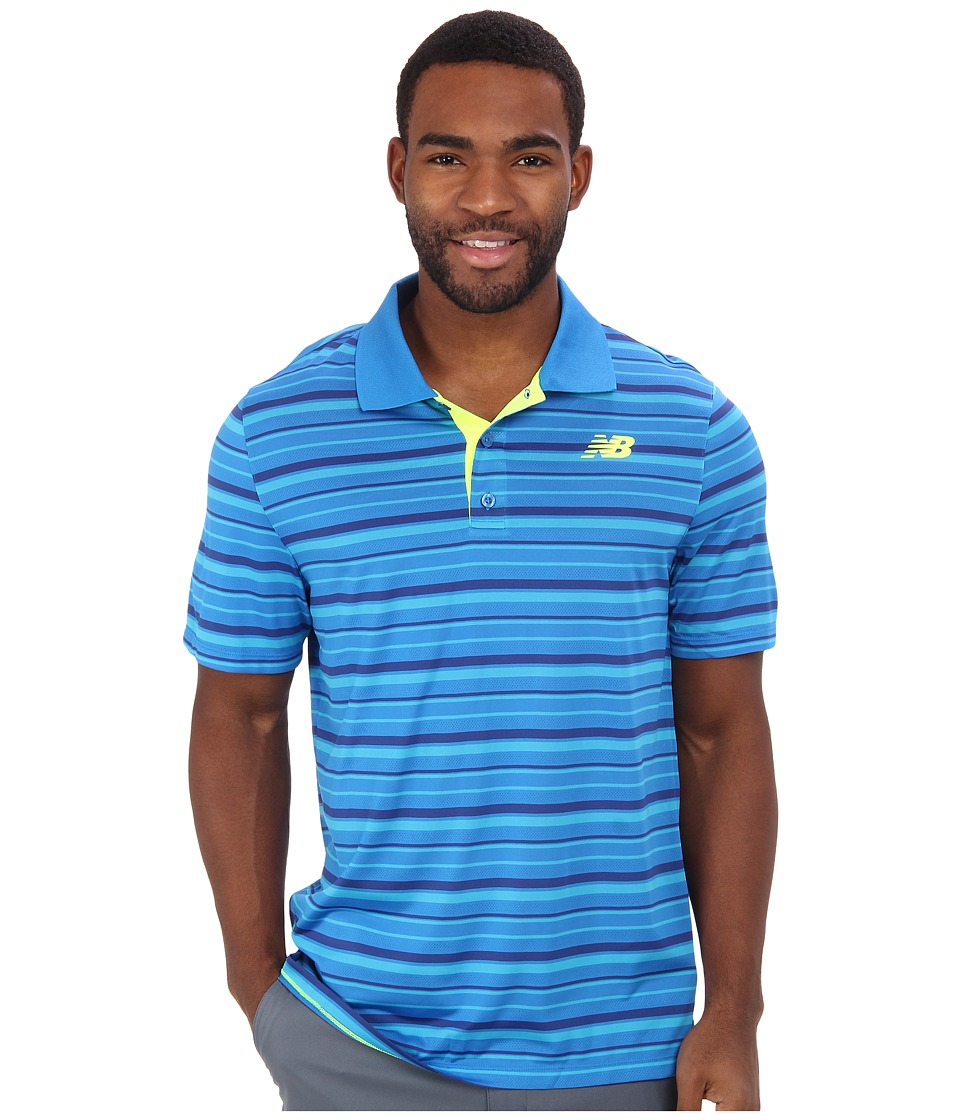 New Balance - Tournament Polo Shirt (Laser Blue) Men's Short Sleeve Knit