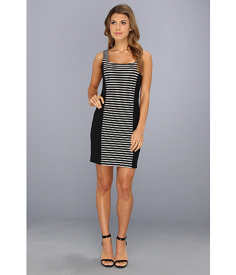 LAmade - Stripe Bodycon Dress (Black/Stripe) Women's Dress