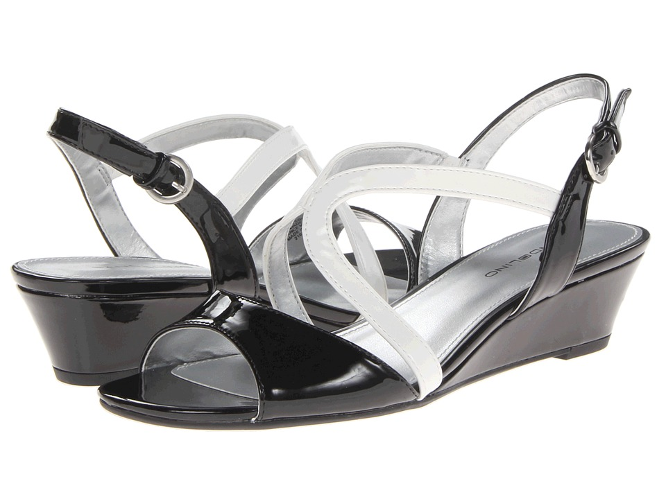 Bandolino Grayson (Black/White Synthetic) Women