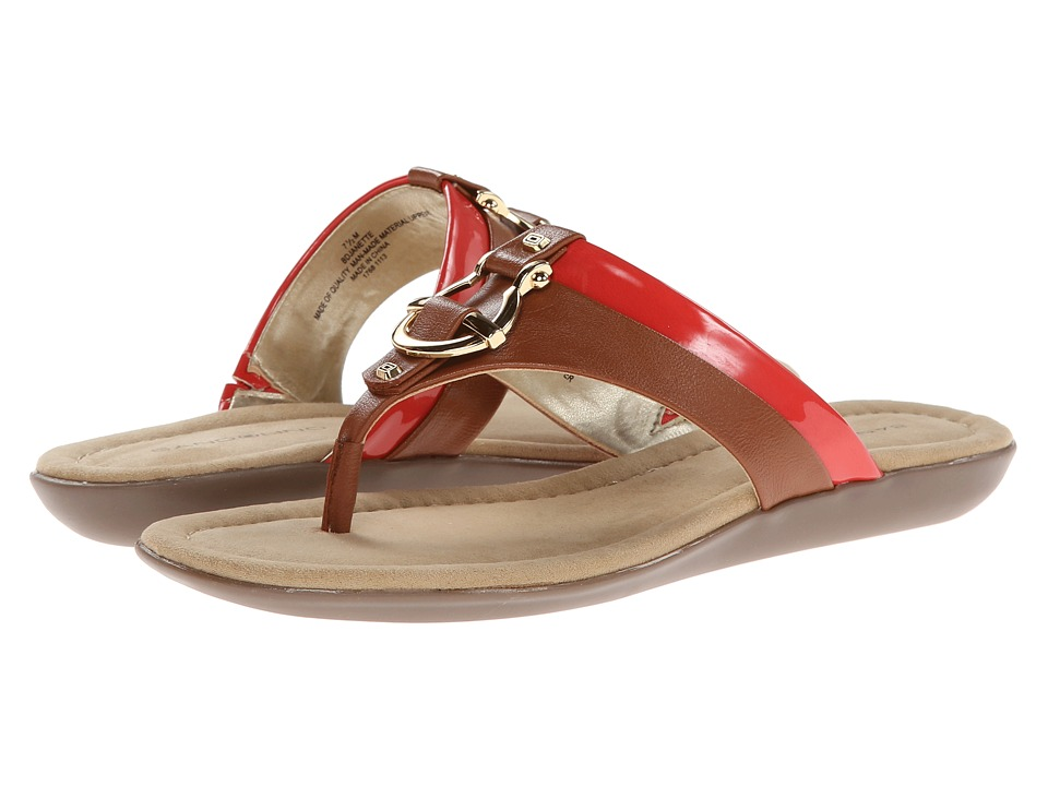 Bandolino Janette (Tan/Coral Synthetic) Women