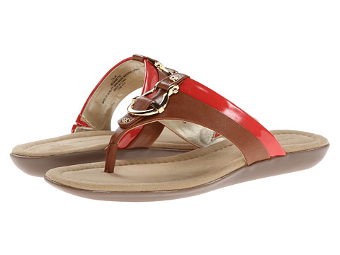 Bandolino - Janette (Tan/Coral Synthetic) Women