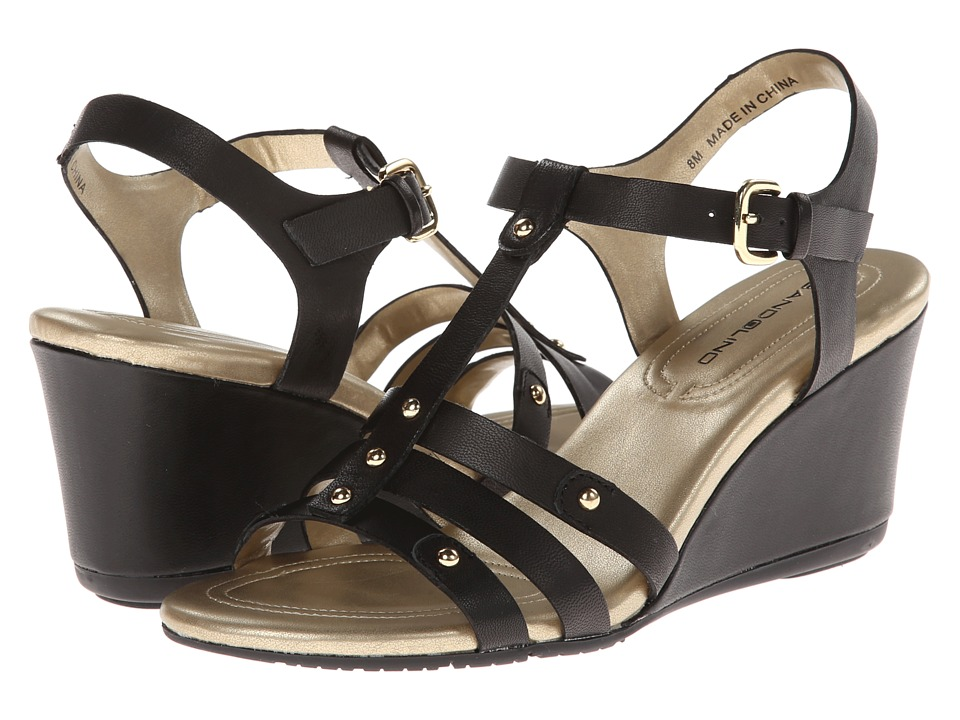 Bandolino - Kimli (Black Leather) Women's Sandals
