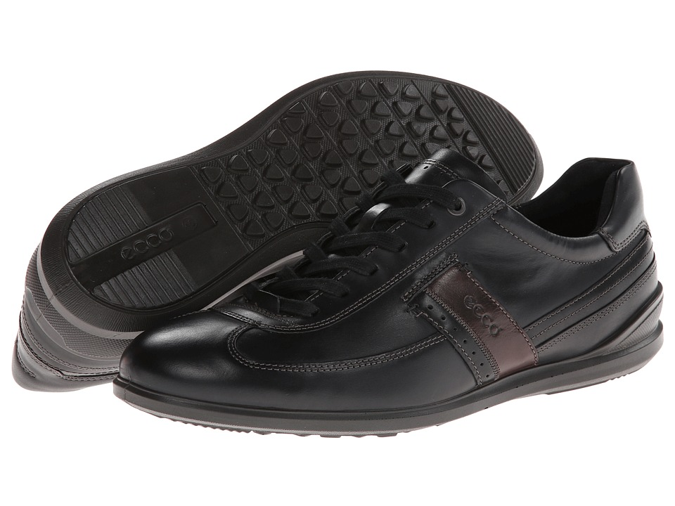ECCO - Chander Dress Sneaker (Black/Black/Coffee) Men