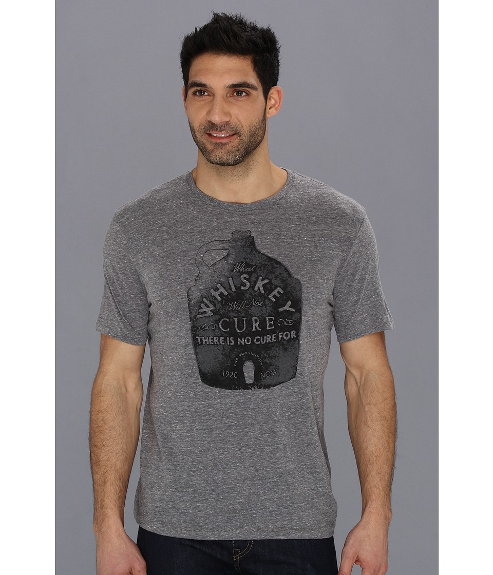 Lucky Brand Whiskey Cure Tee Mens T Shirt (Gray)