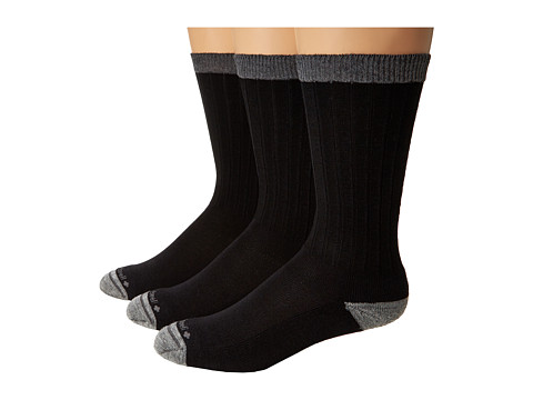 Sockwell - Easy Does It 3-Pack (Black) Men's Crew Cut Socks Shoes