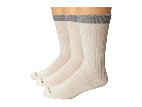 Sockwell - Easy Does It 3-Pack (Natural) Men's Crew Cut Socks Shoes