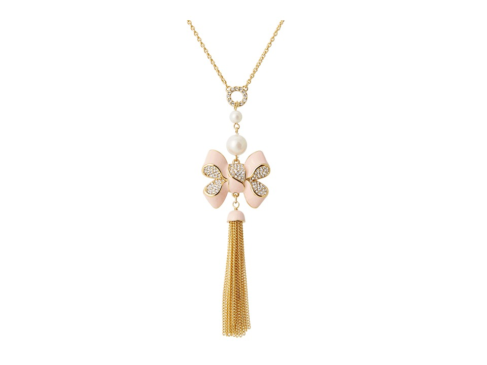 My Flat In London - Miss Khloe Tassel Long Necklace (Gold/Pink) Necklace