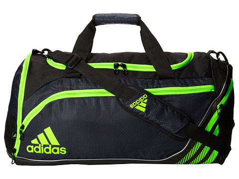 adidas - Team Speed Duffel Medium (Collegiate Navy/Solar Green) Duffel Bags