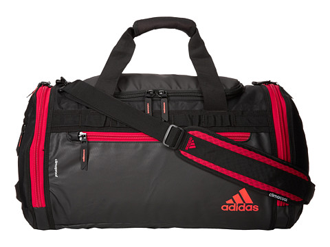 adidas - Climaproof Menace Duffel (Black/Scarlet/Solar Red) Duffel Bags