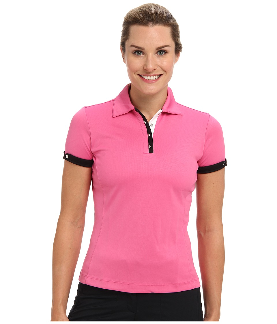Tail Activewear - Flat Mesh Polo (Raspberry) Women's Clothing