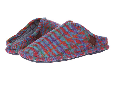 Bedroom Athletics - Charles (Red Blue Check) Men's Slippers